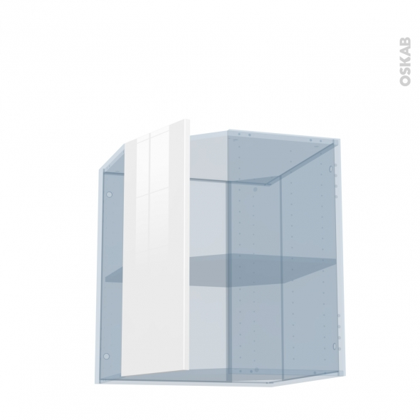BORA Blanc - Kit Rénovation 18 - Meuble angle haut - 1 porte N°77 L32 - L60xH70xP37,5