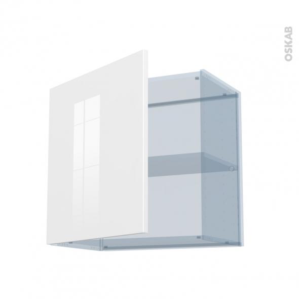 BORA Blanc - Kit Rénovation 18 - Meuble haut ouvrant H57 - 1 porte - L60xH57xP37,5