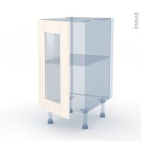 FILIPEN Ivoire -  Kit Rénovation 18 - Meuble bas vitré cuisine - 1 porte - L40 x H70 x P60 cm