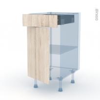 IKORO Chêne Clair - Kit Rénovation 18 - Meuble bas cuisine  - 1 porte 1 tiroir - L40xH70xP60