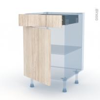 IKORO Chêne Clair - Kit Rénovation 18 - Meuble bas cuisine  - 1 porte 1 tiroir - L50xH70xP60