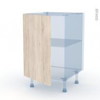 IKORO Chêne Clair - Kit Rénovation 18 - Meuble sous-évier  - 1 porte - L50xH70xP60