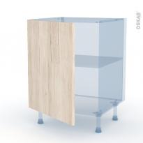 IKORO Chêne Clair - Kit Rénovation 18 - Meuble sous-évier  - 1 porte - L60xH70xP60