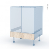 IKORO Chêne Clair - Kit Rénovation 18 - Meuble bas four  - bandeau bas - L60xH70xP60