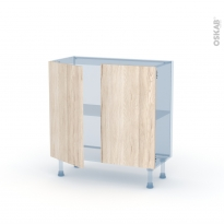IKORO Chêne Clair - Kit Rénovation 18 - Meuble bas prof.37  - 2 portes - L80xH70xP37,5