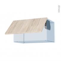 IKORO Chêne Clair - Kit Rénovation 18 - Meuble haut abattant H35  - 1 porte - L60xH35xP37,5