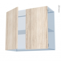 IKORO Chêne Clair - Kit Rénovation 18 - Meuble haut ouvrant H70  - 2 portes - L80xH70xP37,5