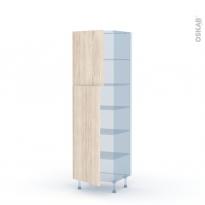 IKORO Chêne Clair - Kit Rénovation 18 - Armoire étagère N°2721  - 2 portes - L60xH195xP60