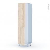 IKORO Chêne Clair - Kit Rénovation 18 - Armoire frigo N°2724  - 2 portes - L60xH217xP60