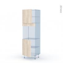 IKORO Chêne Clair - Kit Rénovation 18 - Colonne Four N°1621  - 2 portes - L60xH195xP60