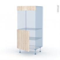 IKORO Chêne Clair - Kit Rénovation 18 - Colonne Four N°16  - 1 porte - L60xH125xP60