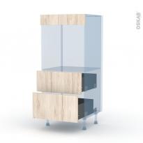 IKORO Chêne Clair - Kit Rénovation 18 - Colonne Four N°58  - 2 casseroliers - L60xH125xP60