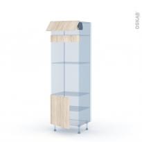 IKORO Chêne Clair - Kit Rénovation 18 - Colonne Four+MO 45 N°516  - 1 abattant 1 porte - L60xH195xP60