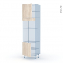 IKORO Chêne Clair - Kit Rénovation 18 - Colonne Four+MO 36/38 N°1616  - 2 portes - L60xH217xP60
