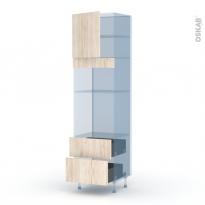 IKORO Chêne Clair - Kit Rénovation 18 - Colonne Four+MO 36/38 N°1658  - 1 porte 2 casseroliers - L60xH217xP60