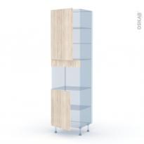 IKORO Chêne Clair - Kit Rénovation 18 - Colonne Four niche 45 N°2421  - 2 portes - L60xH217xP60