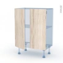 IKORO Chêne Clair - Kit Rénovation 18 - Meuble bas prof.37 - 2 portes - L60xH70xP37,5
