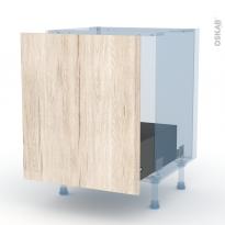 IKORO Chêne Clair - Kit Rénovation 18 - Meuble sous-évier  - 1 porte coulissante - L60xH70xP60