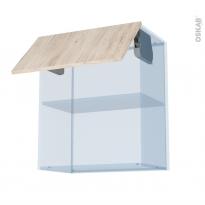 IKORO Chêne Clair - Kit Rénovation 18 - Meuble haut MO niche 36/38  - 1 porte - L60xH70xP37,5