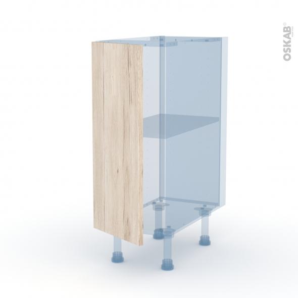 IKORO Chêne Clair - Kit Rénovation 18 - Meuble bas cuisine  - 1 porte - L30xH70xP60