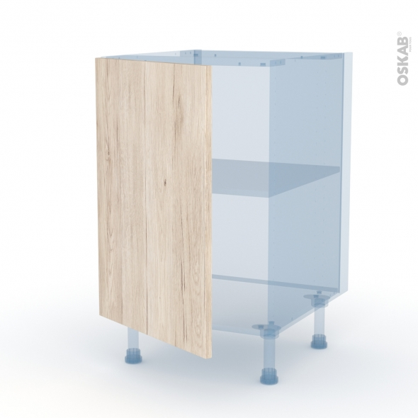 IKORO Chêne Clair - Kit Rénovation 18 - Meuble bas cuisine  - 1 porte - L50xH70xP60