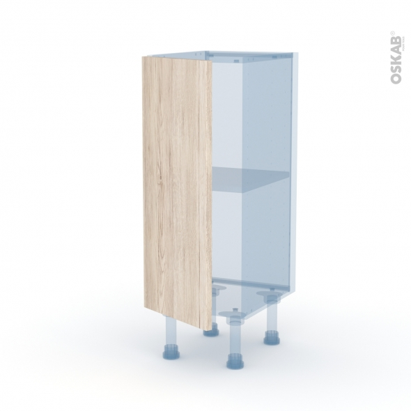 IKORO Chêne Clair - Kit Rénovation 18 - Meuble bas prof.37  - 1 porte - L30xH70xP37,5