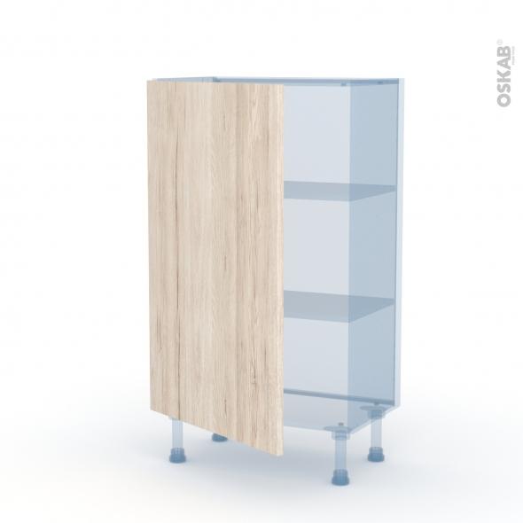 IKORO Chêne Clair - Kit Rénovation 18 - Meuble bas prof.37  - 1 porte - L60xH92xP37,5