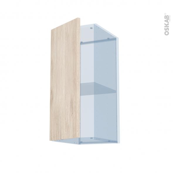IKORO Chêne Clair - Kit Rénovation 18 - Meuble haut ouvrant H70  - 1 porte - L30xH70xP37,5