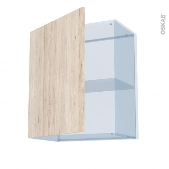 IKORO Chêne Clair - Kit Rénovation 18 - Meuble haut ouvrant H70  - 1 porte - L60xH70xP37,5