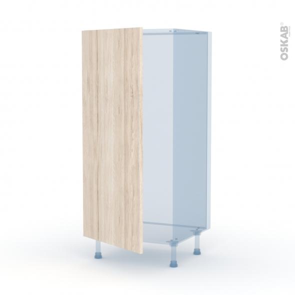 IKORO Chêne Clair - Kit Rénovation 18 - Armoire frigo N°27  - 1 porte - L60xH125xP60