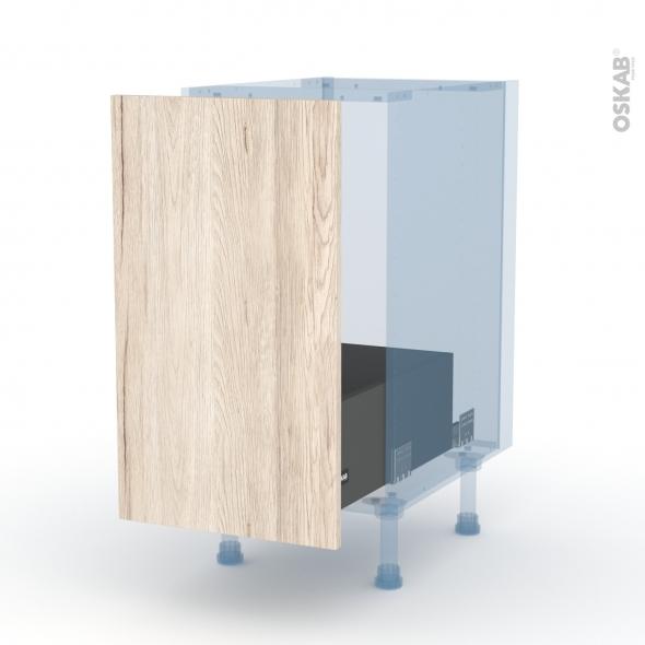 IKORO Chêne Clair - Kit Rénovation 18 - Meuble sous-évier  - 1 porte coulissante - L40xH70xP60