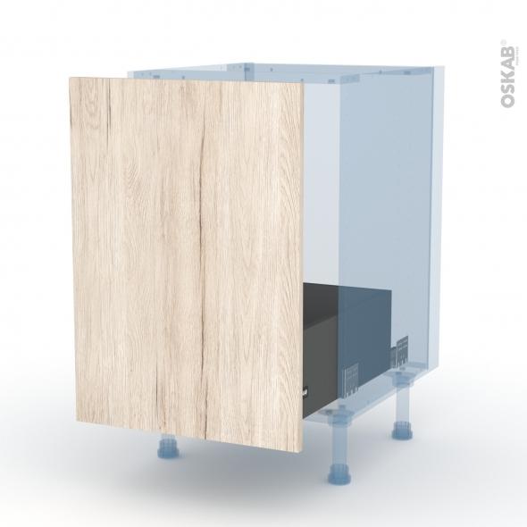 IKORO Chêne Clair - Kit Rénovation 18 - Meuble sous-évier  - 1 porte coulissante - L50xH70xP60