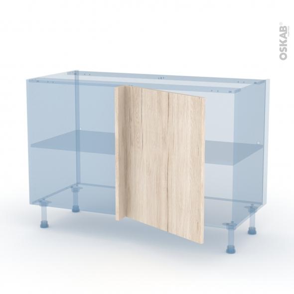 IKORO Chêne Clair - Kit Rénovation 18 - Meuble angle bas - 1 porte N°21 L60 - L120xH70xP60
