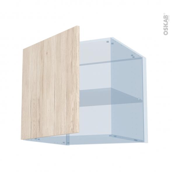 IKORO Chêne Clair - Kit Rénovation 18 - Meuble haut ouvrant H57 - 1 porte - L60xH57xP60
