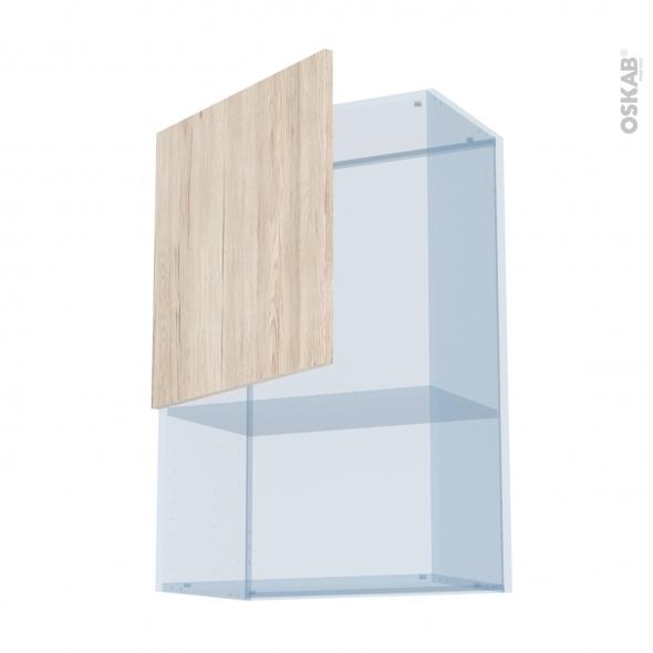 IKORO Chêne Clair - Kit Rénovation 18 - Meuble haut MO niche 36/38  - 1 porte - L60xH92xP37,5
