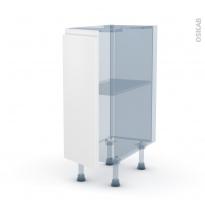 IPOMA Blanc mat - Kit Rénovation 18 - Meuble bas cuisine  - 1 porte - L30xH70xP60