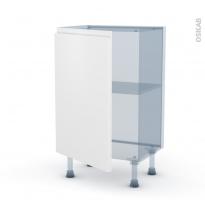 IPOMA Blanc mat - Kit Rénovation 18 - Meuble bas prof.37  - 1 porte - L50xH70xP37,5