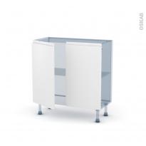 IPOMA Blanc mat - Kit Rénovation 18 - Meuble bas prof.37  - 2 portes - L80xH70xP37,5