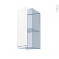 IPOMA Blanc mat - Kit Rénovation 18 - Meuble haut ouvrant H70  - 1 porte - L30xH70xP37,5