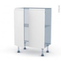 IPOMA Blanc mat - Kit Rénovation 18 - Meuble bas prof.37 - 2 portes - L60xH70xP37,5
