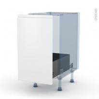 IPOMA Blanc mat - Kit Rénovation 18 - Meuble sous-évier  - 1 porte coulissante - L40xH70xP60