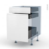 IPOMA Blanc mat - Kit Rénovation 18 - Meuble range épice - 3 tiroirs - L50xH70xP60