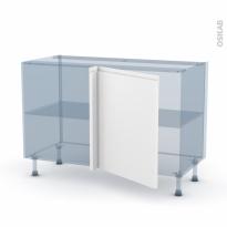 IPOMA Blanc mat - Kit Rénovation 18 - Meuble angle bas - 1 porte N°21 L60 - L120xH70xP60