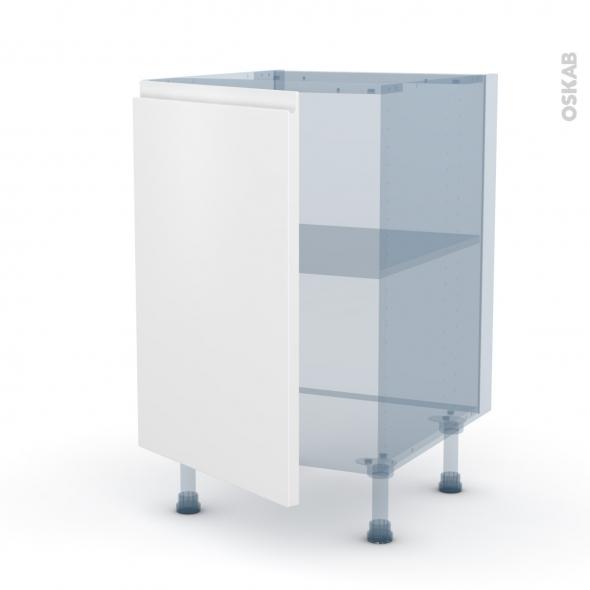 IPOMA Blanc mat - Kit Rénovation 18 - Meuble sous-évier  - 1 porte - L50xH70xP60