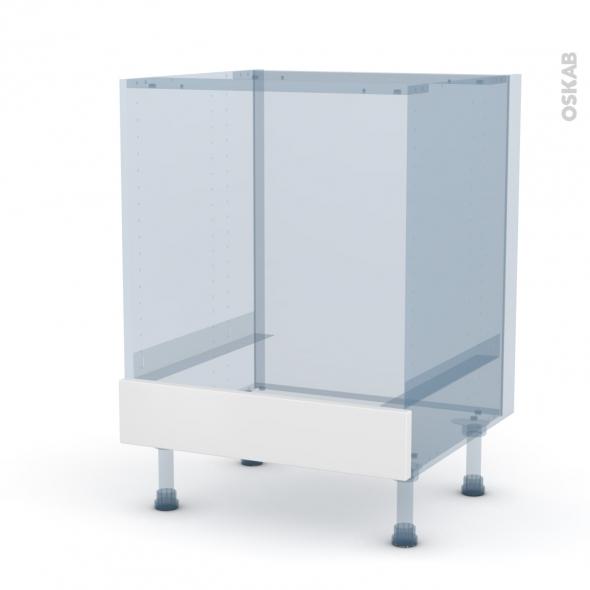 IPOMA Blanc mat - Kit Rénovation 18 - Meuble bas four  - bandeau bas - L60xH70xP60