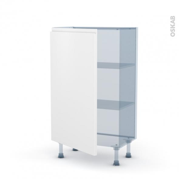 IPOMA Blanc mat - Kit Rénovation 18 - Meuble bas prof.37  - 1 porte - L60xH92xP37,5