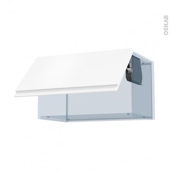 IPOMA Blanc mat - Kit Rénovation 18 - Meuble haut abattant H35  - 1 porte - L60xH35xP37,5
