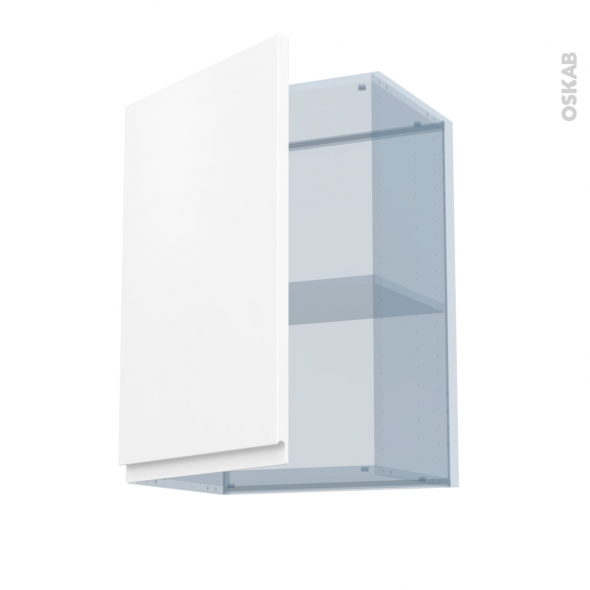 IPOMA Blanc mat - Kit Rénovation 18 - Meuble haut ouvrant H70  - 1 porte - L50xH70xP37,5