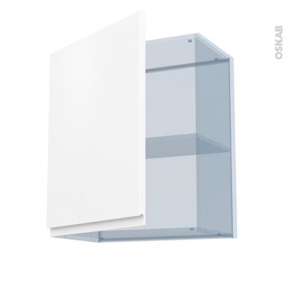 IPOMA Blanc mat - Kit Rénovation 18 - Meuble haut ouvrant H70  - 1 porte - L60xH70xP37,5
