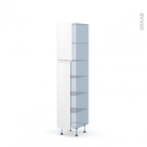 IPOMA Blanc mat - Kit Rénovation 18 - Armoire étagère N°1926  - 2 portes - L40xH195xP60